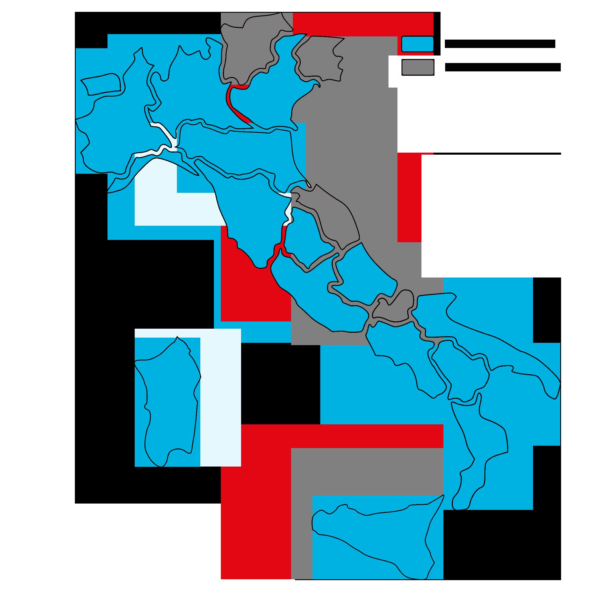 Mappa Accreditamenti Regionali
